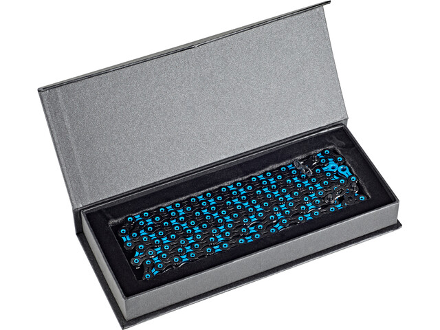 KMC X11 SL DLC Super Light Kette 11-fach black/blue